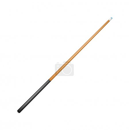 Illustration for Billiard cue in retro design on white background - Royalty Free Image