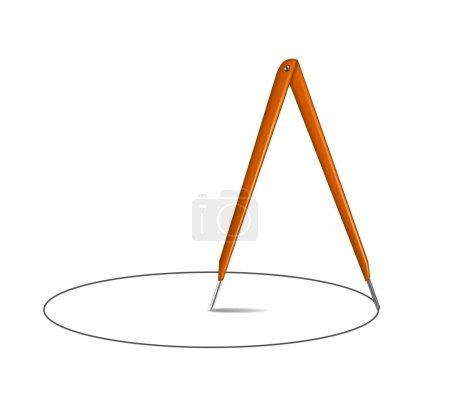 Drawing compass and circle
