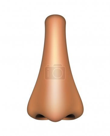 Illustration for Human nose in light colour design on white background - Royalty Free Image