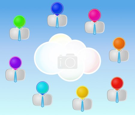 men cloud