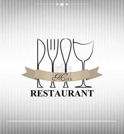 Illustration pour Illustration du menu restaurant avec bannière - image libre de droit