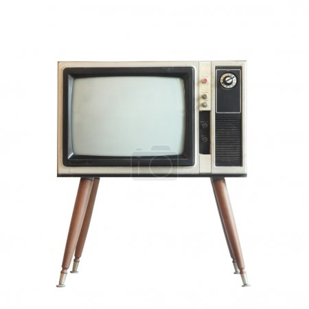 Photo for Vintage television isolated with clipping path - Royalty Free Image