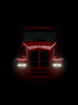 Truck coming head-on
