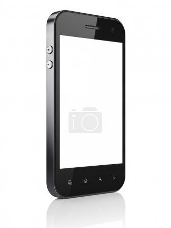 Beautiful smartphone on white background.
