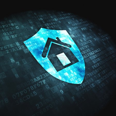 Business concept: Shield on digital background