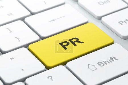 Marketingkonzept: Computertastatur mit Pr.