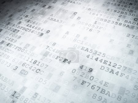 Technology concept: binary code digital background