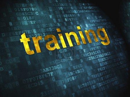 Education concept: Training on digital background