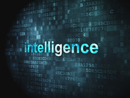 Education concept: Intelligence on digital background