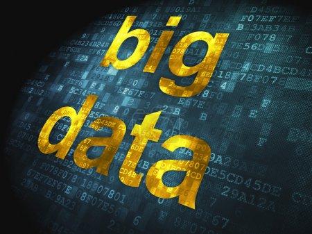 Information concept: Big Data on digital background