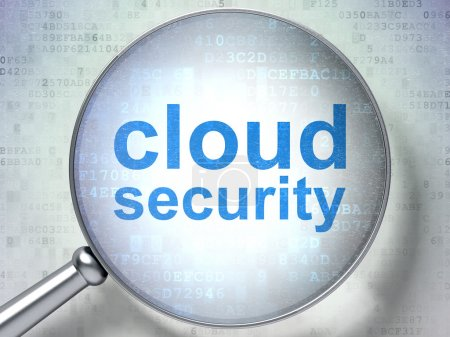 Security concept: Cloud Security with optical glass