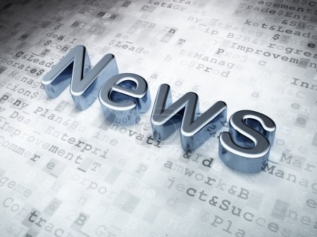 News concept: Silver News on digital background