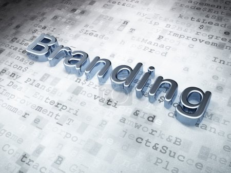 Marketing concept: Golden Branding on digital background