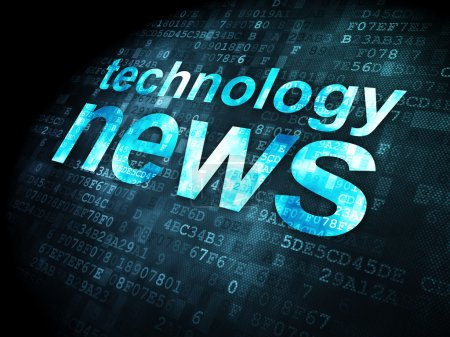 News concept: Technology News on digital background