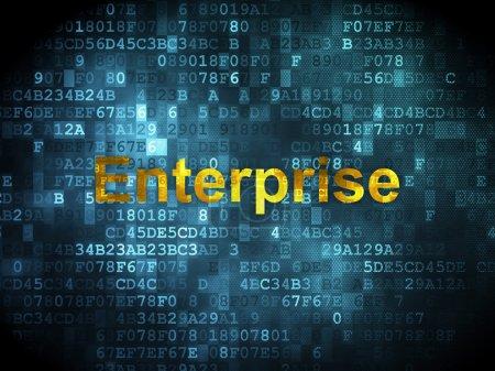 Finance concept: Enterprise on digital background