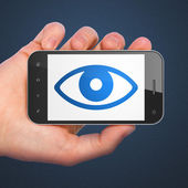 Soukromí koncept: oko na smartphone