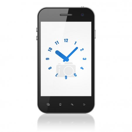 Time concept: Clock on smartphone