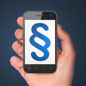 Zákon koncept: odstavec o smartphone