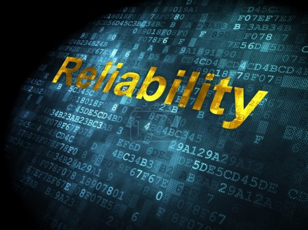 Finance concept: Reliability on digital background