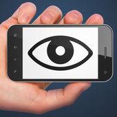 Bezpečnostní koncepce: oko na smartphone