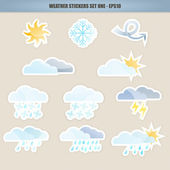 Weather Icon Stickers – Set one
