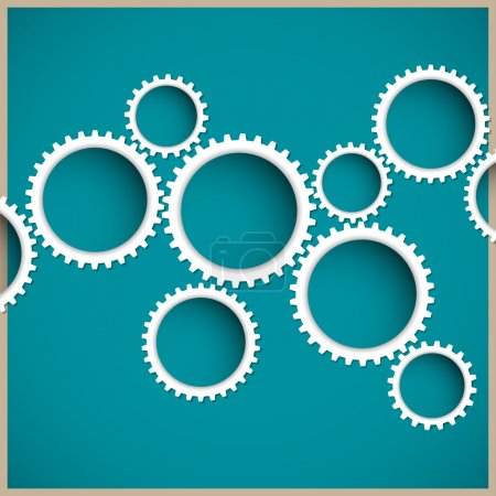 Illustration for Abstract gear wheels. Vector design template - Royalty Free Image