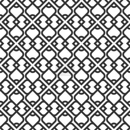 Photo pour Coloration homogène islamique noire et blanche. illustration vectorielle - image libre de droit