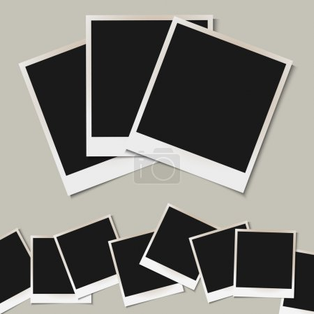 Vector set of isolated Photo frames