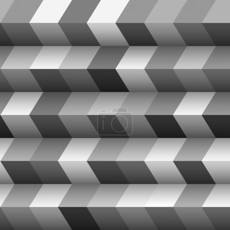 Illustration for Monochrome geometric structured background.Vector eps10 - Royalty Free Image