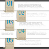 White vector paper numbered banners