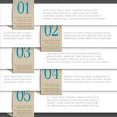 Bílá vektor papír číslovány nápisy