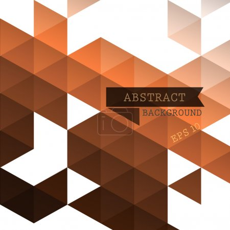 Illustration for Abstract geometric brown background for design - Royalty Free Image