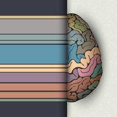 Concept of human brain Futuristic vector illustration