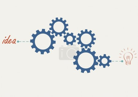 Illustration for Concept vector with abstract gear wheels. Variation -1 - Royalty Free Image