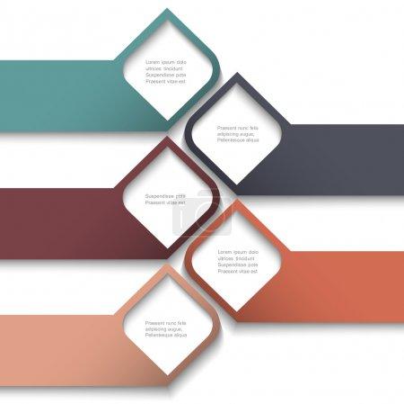 Illustration pour Bannières 3D créer des modèles de site Web. Vector - image libre de droit