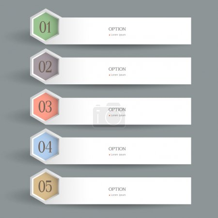 Illustration for White horizontal Design template. Vector website layout - Royalty Free Image