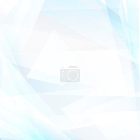 Illustration for Abstract geometric light blue background. Vector - Royalty Free Image