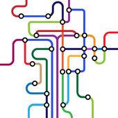 Colorful abstract subway mapVector eps10