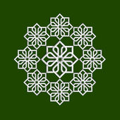 3d flower pattern in arabic style Vector illustration
