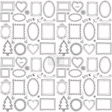 Illustration for Seamless doodle frame set - Royalty Free Image