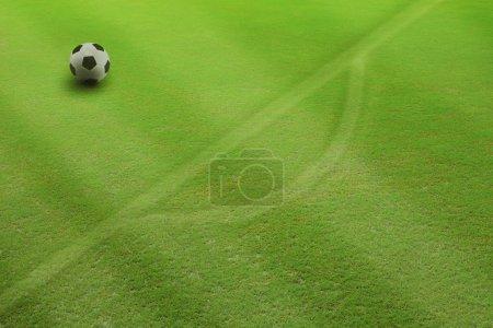 Soccer ball on penalty kick