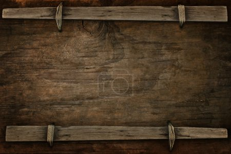 Photo for Announcement wood with free space for multipurpose - Royalty Free Image