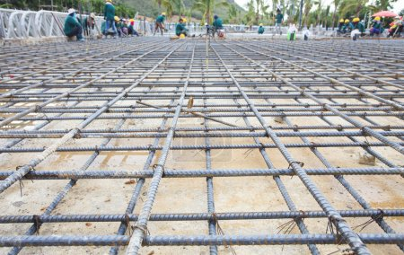 reinforce iron cage net for built building floor in construction