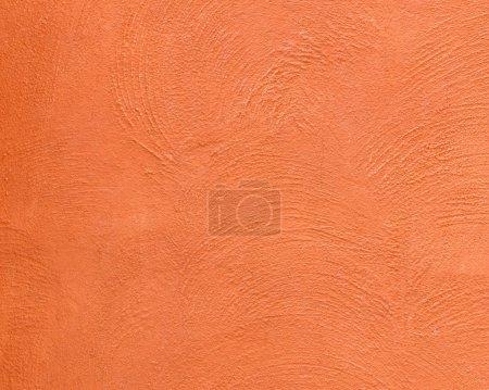 Photo pour Fond de texture de béton surface décorative sur le mur couleur orange - image libre de droit