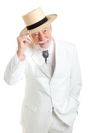 Senior Southern Gentleman Tips Hat