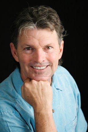 Handsome Middle-aged Man Smiling