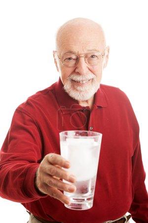 Senior Man Glass Water