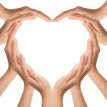 Hands make heart shape...