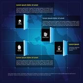 Moderne Vektor Infographik Unternehmenshintergrund mit Symbolen