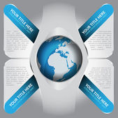Abstract vector cross background for texts and globe in the midd